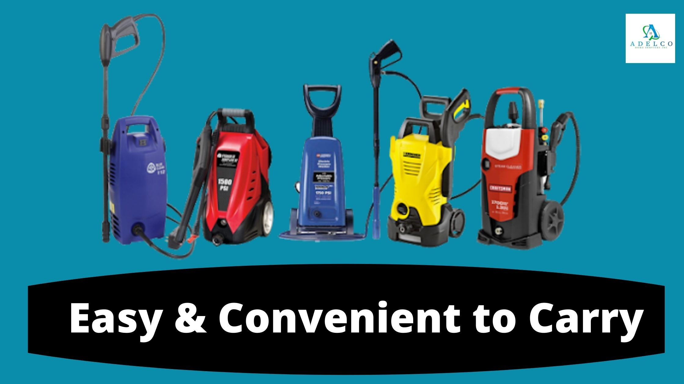 Electric Power Washer is Easy & Convenient to Carry