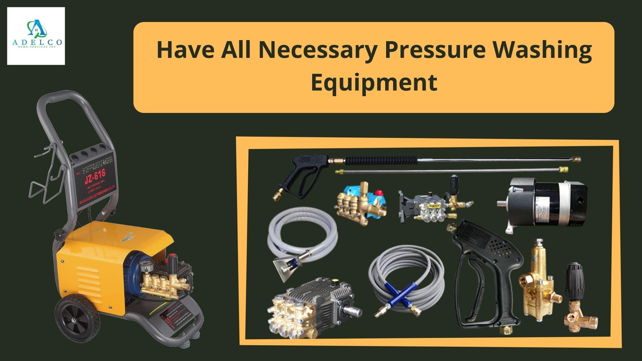 Pressure Washer Has All Necessary Pressure Washing Equipment
