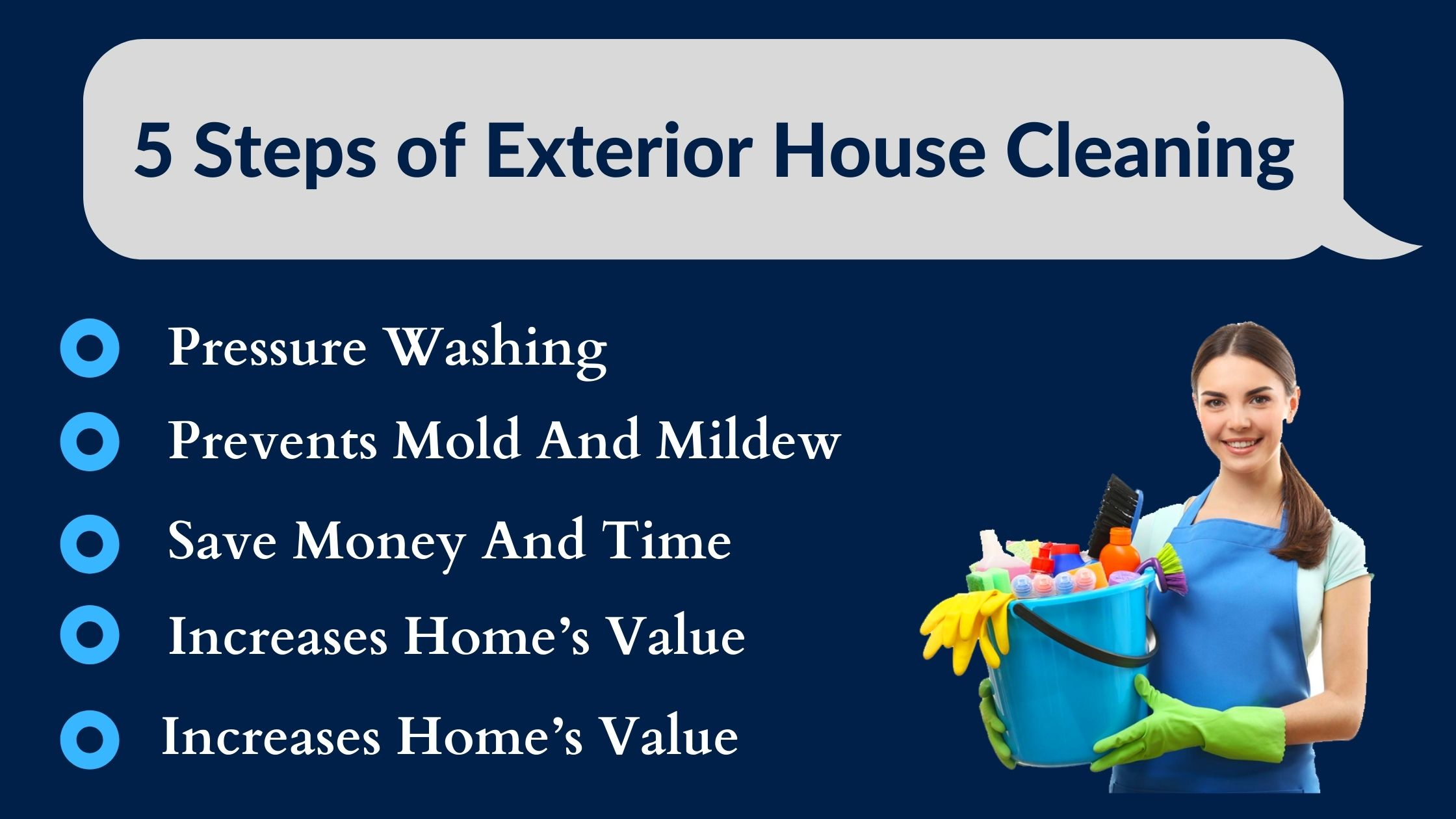 5 Steps of Exterior House Cleaning Process to Follow