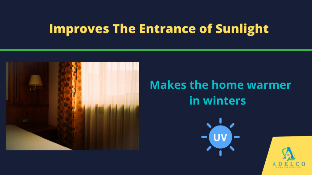 Improves the entrance of sunlight