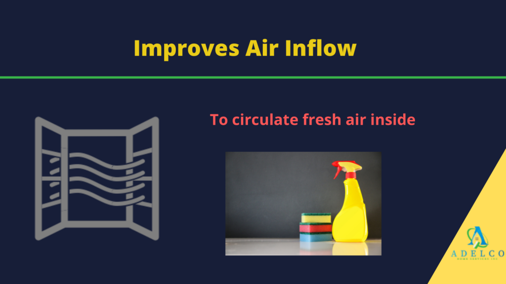 Improves the inflow of air