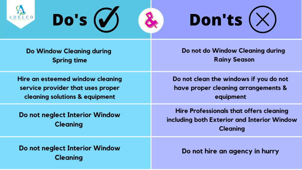 Do's and Don'ts of Window Cleaning in Metro Vancouver