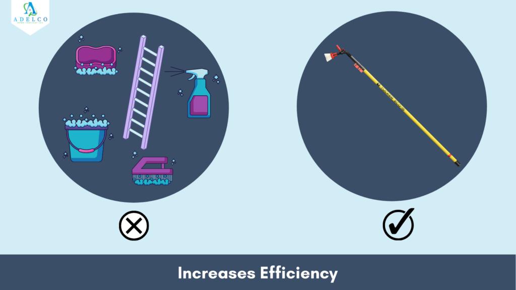 Tucker Water Fed Pole Increases Efficiency