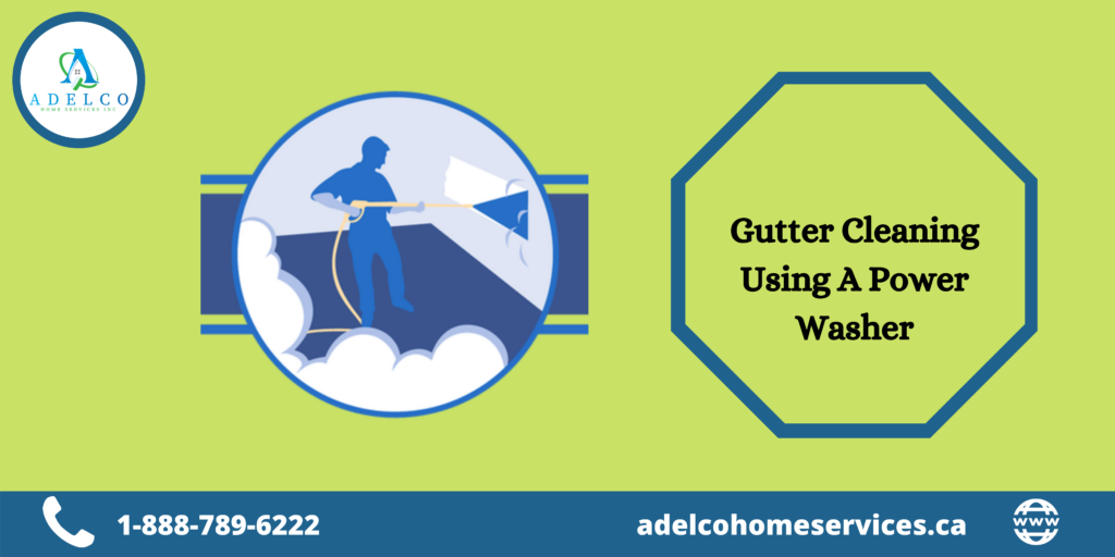 Gutter Cleaning Using A Power Washer
